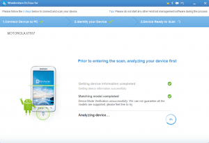 Dr. Fone - Recover for Android screenshot showing step 2