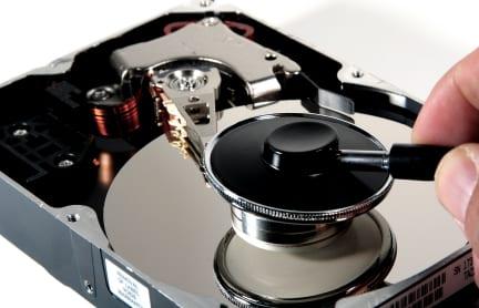 Hard drive platter repair