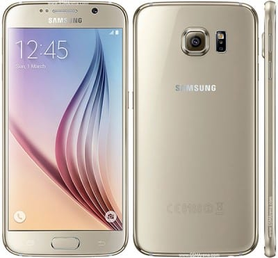 Samsung Galaxy S6 front and back