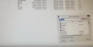 WinHex screenshot showing saving a file to the desktop