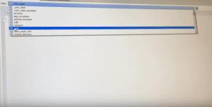 SQLiteBrowser screenshot showing drop-down menu