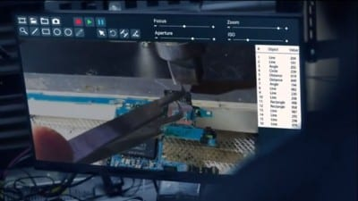 Screenshot from FBI TV series showing chip-off data recovery from FlashFixers