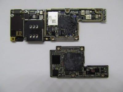 disassembled iPhone X logic board