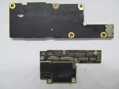 iPhone X split logic board